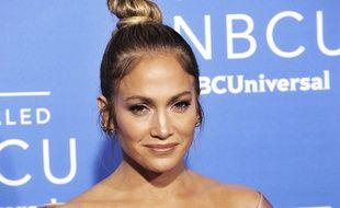 La chanteuse et actrice Jennifer Lopez à New York