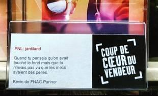 Détournement des coups de coeur de la Fnac à Aulnay-sous-Bois.