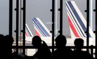 Le 15/09/2014 , des avions Air France à Paris-Orly. AFP PHOTO / KENZO TRIBOUILLARD