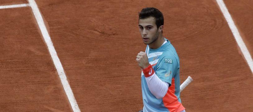 Hugo Gaston, le 2 octobre 2020 à Roland-Garros.