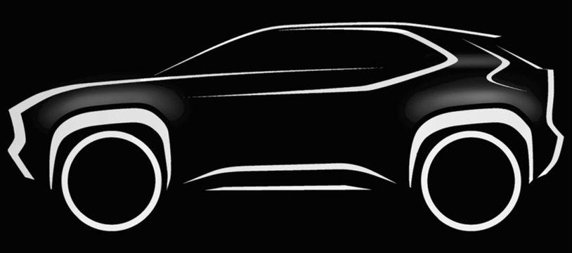 La silhouette du SUV qui sera produit dans le Nord.