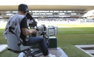 Un cameraman au stade de Gerland à Lyon (illustration).