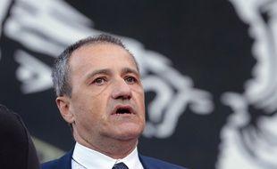 Le président de l'Assemblée de Corse Jean-Guy Talamoni, le 7 août 2016 à Corte.