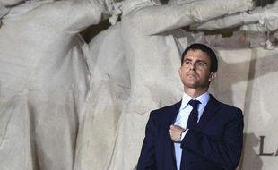Manuel Valls lors d'une cérémonie au Panthéon, à Paris, le 25 juin 2014.