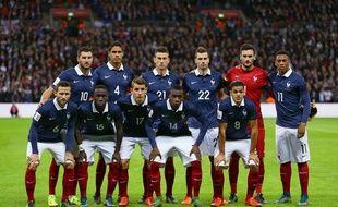 L'équipe de France à Londres le 17 novembre 2015.