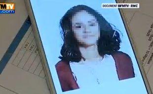 Capture d'écran d'un reportage sur une ado radicalisée diffusé sur BFMTV.