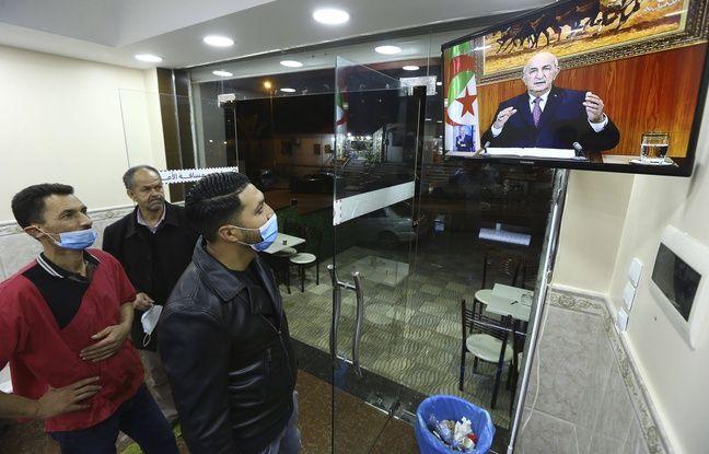648x415 l intervention du president abdelmadjid tebboune est suivi a la television par des algerois jeudi 18