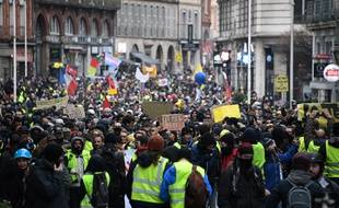 A Toulouse, lors de l'acte 12 des «gilets jaunes».