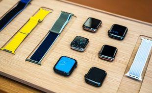 L'Apple Watch series 5 dans une boutique de Shanghai (illustration).