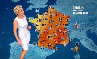 La fausse météo d'Evelyne Dhéliat.