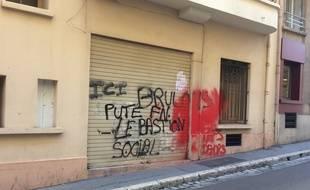 Le local ou va ouvrir le « bastion social » à Marseille.