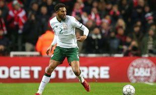 Cyrus Christie lors du match Danemark-Irlande en barrage de Coupe du monde, le 11 novembre 2017.