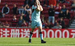 Joey Barton sous le maillot de Burnley, le 8 avril 2017.