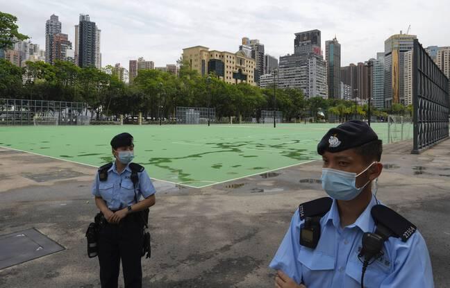648x415 policiers chinois montent garde parc victoria hong kong vendredi 4 juin 2021 o organisateur commemoration annuelle repression meurtriere place tiananm