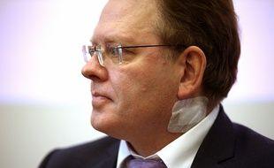 Andreas Hollstein, le maire d'Altena, après son agression au couteau dans un kebab de la ville le 28 novembre 2017.