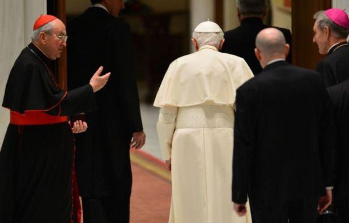 """De l'avis des vaticanistes, le pape idéal pour succéder à Joseph Ratzinger, théologien allemand, fin mais peu communicatif, doit être un """"bon pasteur"""", capable de s'adresser plus simplement aux catholiques mais aussi à l'ensemble du monde moderne. – Gabriel Bouys afp.com"""