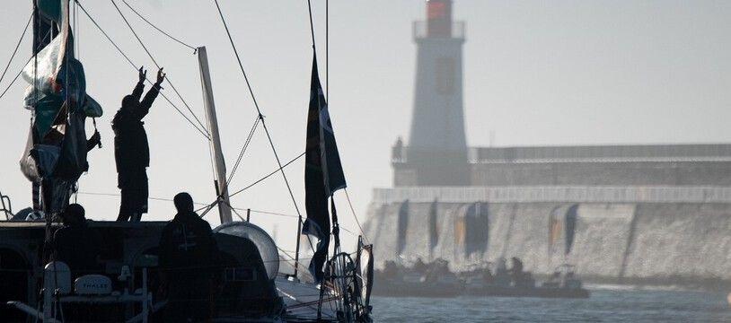 Le futur vainqueur du Vendée Globe est attendu aux Sables d'Olonne mercredi, sans public pour le moment.