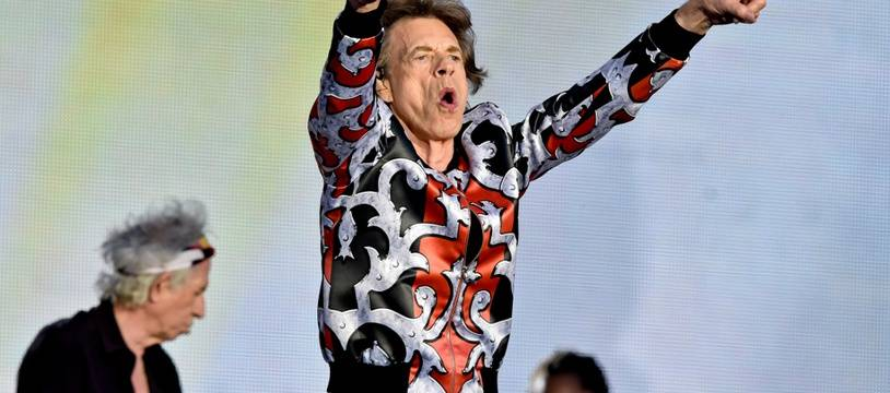 Le chanteur des Rolling Stones, Mick Jagger, en concert à Prague