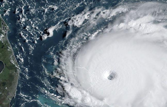 Image satellite prise le 1er septembre et montrant l'ouragan Dorian en train de s'approcher des Bahamas.