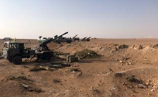 Artillerie dans le village of Suway'iah, près de la ville de Boukamal, à la frontière syrienne, le 10 novembre 2017.