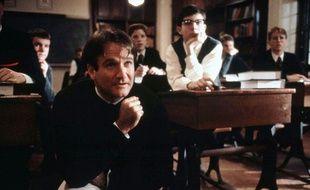 L'acteur Robin Williams dans le film «Le Cercle des poètes disparus», en 1989.
