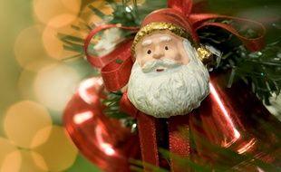 Illustration de décorations de Noël.
