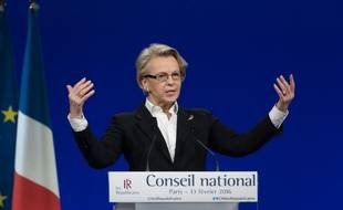 Michèle Alliot-Marie au  Conseil national des Républicains, le 13 février 2016 à Paris.