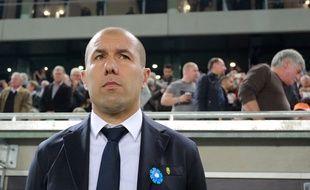 Leonardo Jardim, l'entraîneur de l'AS Monaco, le 8 novembre 2015 à Bordeaux.