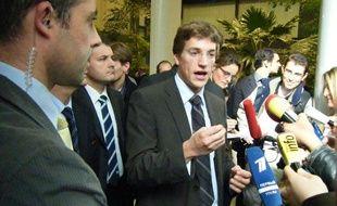 Jean Sarkozy au conseil général des Hauts-de-Seine, après son élection comme administrateur de l'Epad, le 23 octobre 2009.
