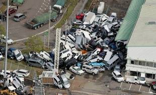 Les dégâts du typhon Jebi au Japon.