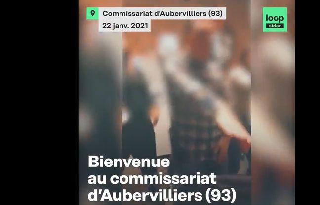 Une vidéo publiée par Loopsider, mercredi 27 janvier 2021, montre des policiers participant à une fête au commissariat d'Aubervilliers pendant le couvre-feu.