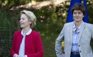 Ursula Van Der Leyen, la future présidente de la Commission européenne, et la candidate française, Sylvie Goulard.
