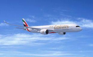 Un des futurs A350 d'Emirates.