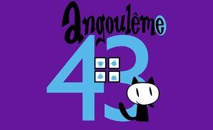 Le fauve, mascotte du 43e festival international de la BD d'Angoulême