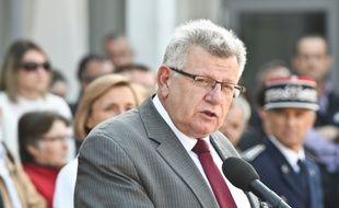 Le secrétaire d'Etat au Budget Christian Eckert à La Rochelle, le 24 mai 2016