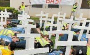 Les salariés en grève ont manifesté jeudi toute la journée.