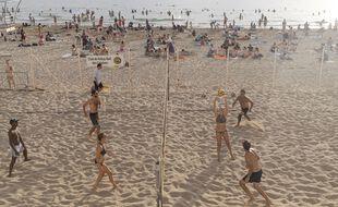 La plage des Catalans en juillet 2021