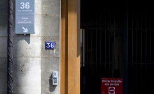 L'entrée du 36, Quai des Orfèvres, à Paris, le 1er août 2014