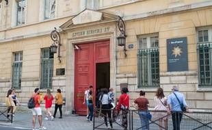 Le 9 juillet 2018, à Paris (5e). L'entrée du lycée Henri-IV, rue Clovis.