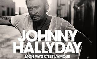 Détail de la pochette de l'album posthume de Johnny Hallyday.
