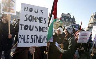 Plus de 80 manifestations étaient prévues samedi en France à l'appel du Collectif national pour une Paix juste et durable entre Palestiniens et Israéliens, qui regroupe des associations, dont le Mrap, des partis de gauche comme le PCF et la LCR, et des syndicats.
