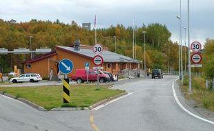 Le poste-frontière de Storskog, entre la Russie et la Norvège.