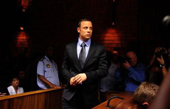 Oscar Pistorius devant le tribunal de Pretoria le 21 février 2013.
