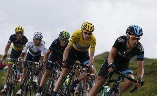 Richie Porte, Chris Froome, Alejandro Valverde, Nairo Quintana et Alberto Contador, le 18 juillet 2013, sur le Tour de France.