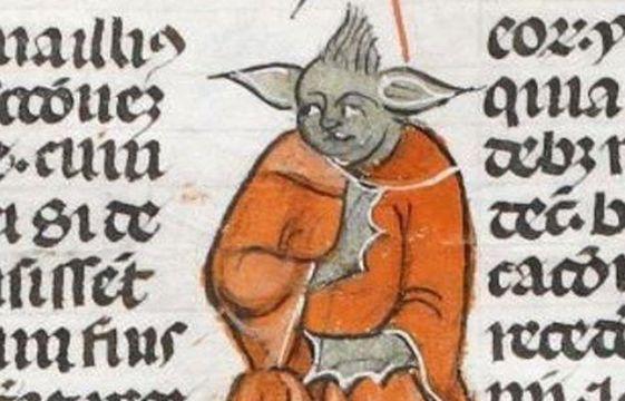 Yoda existait-il déjà dans un manuscrit datant du 14e siècle ? 561x360_capture-ecran-dessin-monstre-lettres-papales-14e-siecle-ressemblant-yoda