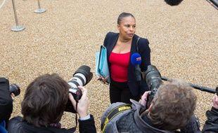 Christiane Taubira le 6 novmebre 2013 à sa sortie du Conseil des ministres.