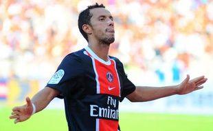 L'attaquant brésilien du PSG Nenê le 21 août 2011 lors d'un match contre Valenciennes.