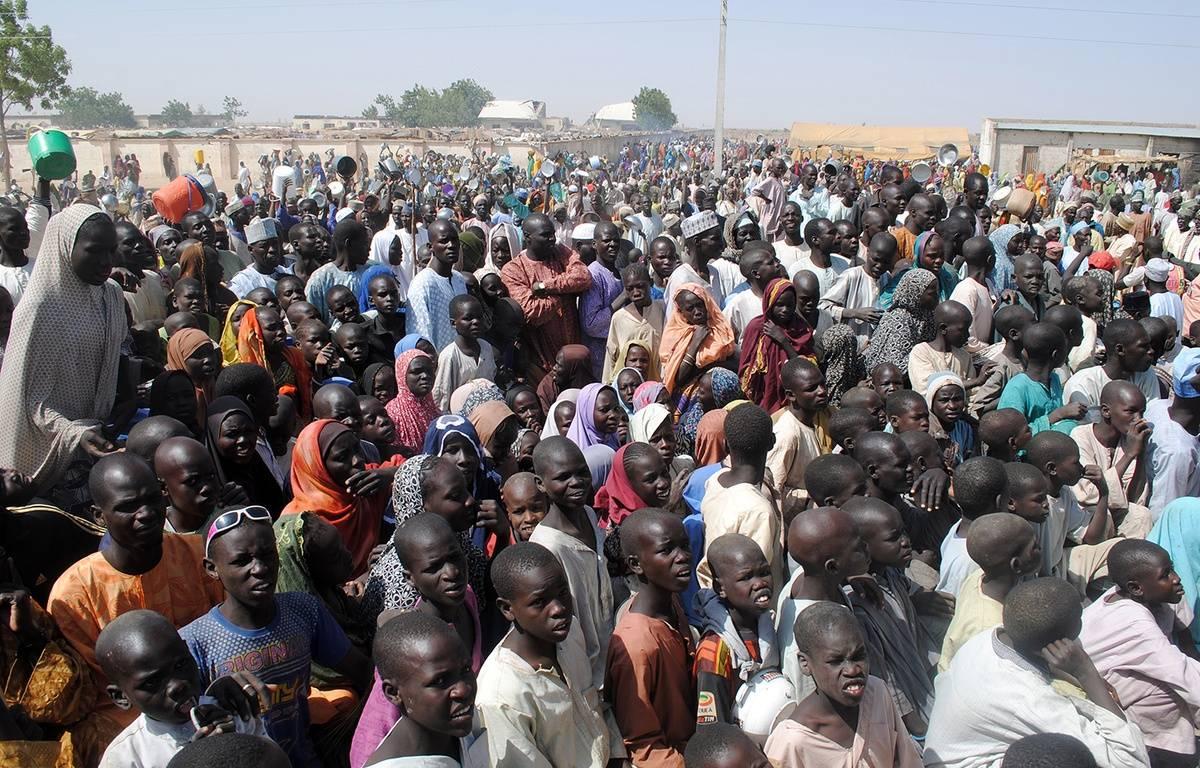 Le camp de réfugiés de Dikwa, au nord-est du Nigeria, le 2 février 2016. – STRINGER / AFP