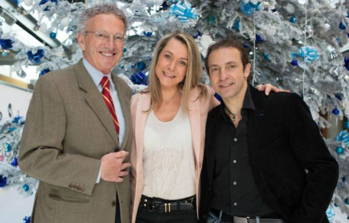 Nelson Monfort, Annick Dumont et Philippe Candeloro, journalistes et consultants France Televisions pour les JO de Sotchi. – REVELLI-BEAUMONT/SIPA