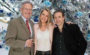 Nelson Monfort, Annick Dumont et Philippe Candeloro, journalistes et consultants France Televisions pour les JO de Sotchi.